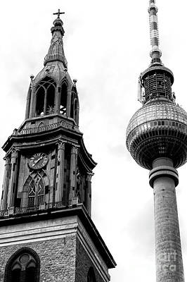 Photograph - Two Towers In Berlin  by John Rizzuto