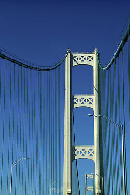 Photograph - Two Towers Mackinac Bridge by Mary Bedy