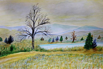 Painting - Two Tracking by Dick Bourgault