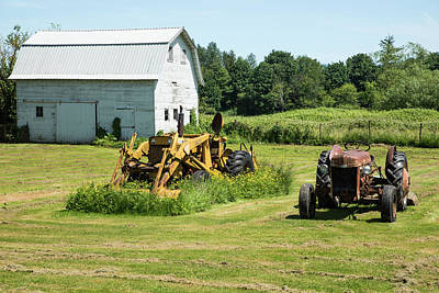 Photograph - Two Tractors And Barn In Nooksack by Tom Cochran