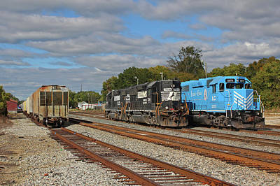 Photograph - Two Train Meet In Chester 40 by Joseph C Hinson Photography
