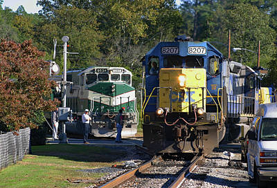Photograph - Two Trains In Aberdeen  by Joseph C Hinson Photography
