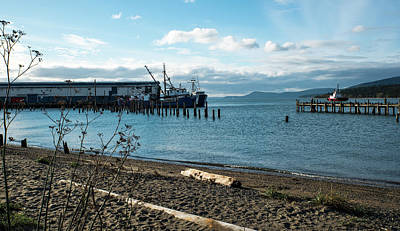 Photograph - Two Trawlers And A Tug by Tom Cochran