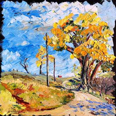 Painting - Two Trees by Carrie Jacobson