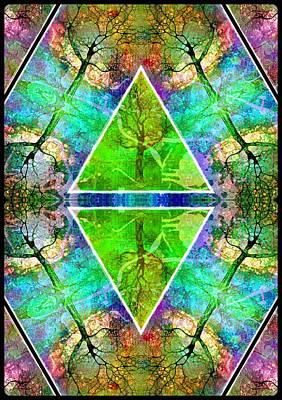 Ceramic Art - Two Triangles by Tara Turner