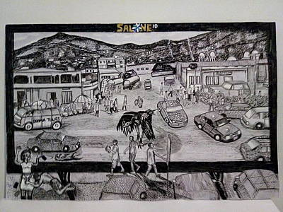 Roadkill Drawing - Two Troubles - Only One God - Sierra Leone by Mudiama Kammoh
