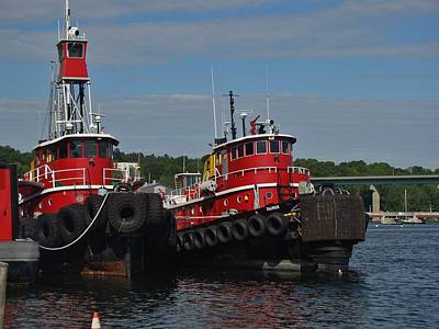 Photograph - Two Tugs by Yvonne Breen