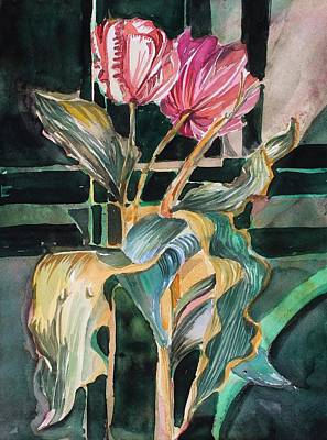 Painting - Two Tulips by Mindy Newman
