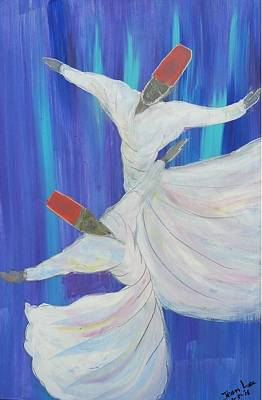 two whirling  dervishes in sufi dance in Istanbul Original