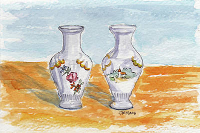 Painting - Two-view Vase by Julie Maas