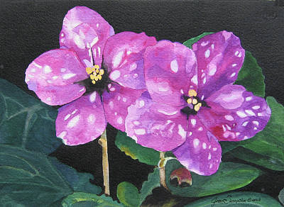 Painting - Two Violets by Jean Sumption