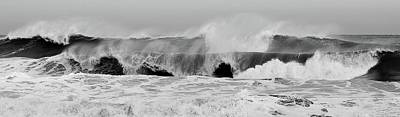 Photograph - Two Waves Are Better Than One - Jersey Shore by Angie Tirado