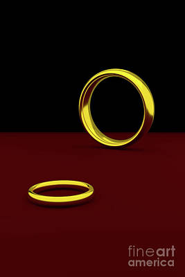 Digital Art - Two Wedding Rings by Clayton Bastiani