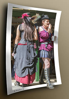 Loose Hair Photograph - Two Wenches by Brian Wallace