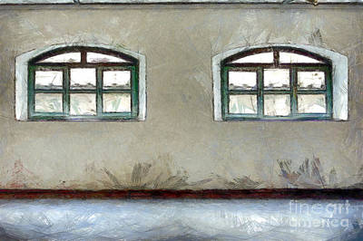 Digital Art - Two Windows by Giuseppe Cocco