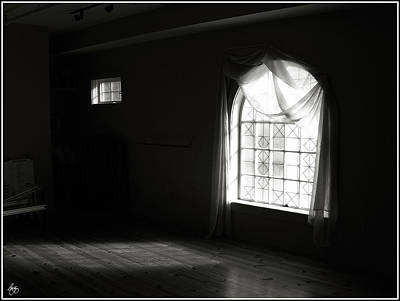 Photograph - Two Windows Monochrome by Wayne King