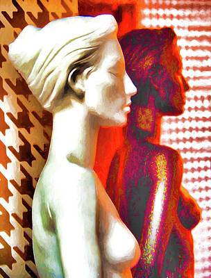 Digital Art - Two Women by Dennis Cox Photo Explorer