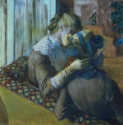 Conversation Painting - Two Women by Edgar Degas