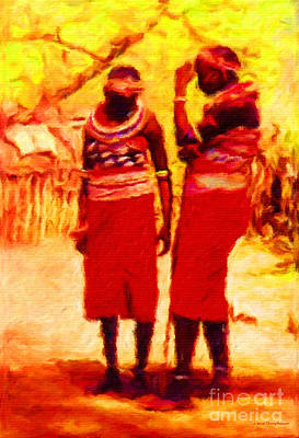 Two African Women Original by Jerome Stumphauzer