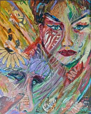 Mixed Media - Two Women by Michael Cinnamond