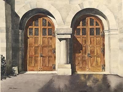 Two Wood Doors Original by Ellie Moniz