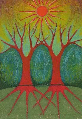 Two Worlds Art Print by Wojtek Kowalski