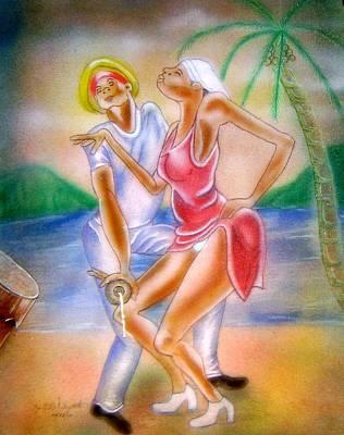 Couple Mixed Media - Twoubadou by Neg Ayiti