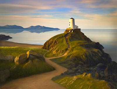 Lighthouses Painting - Twr Mawr Light by James Charles