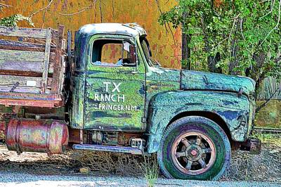 Photograph - Tx Ranch Truck by Jacqui Binford-Bell