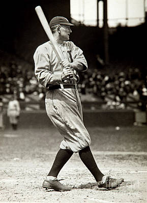 Detroit Tigers Photograph - Ty Cobb At Bat by Jon Neidert