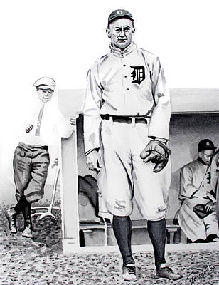 Detroit Tigers Painting - Ty Cobb by Ferrel Cordle