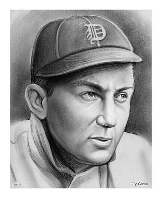 Drawings Royalty Free Images - Ty Cobb Royalty-Free Image by Greg Joens