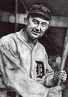 Detroit Tigers Drawing - Ty Cobb by Rob Payne