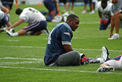 Photograph - Ty Law 2004 Training Camp by Mike Martin