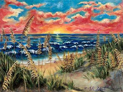 Comfort Painting - Tybee Beach by Donna Waite