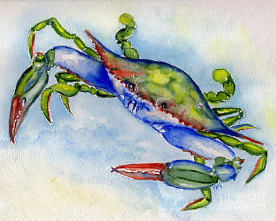 Painting - Tybee Blue Crab 2 by Doris Blessington