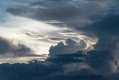 Marvelous Marble Rights Managed Images - Tybee Island Clouds 6218 Royalty-Free Image by Bob Neiman