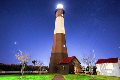 Photograph - Tybee Island Light House Under The Stars by Robert Loe