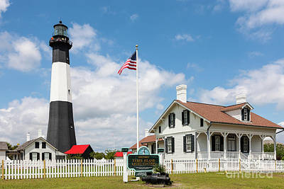 Photograph - Tybee Island Light Station I by Clarence Holmes