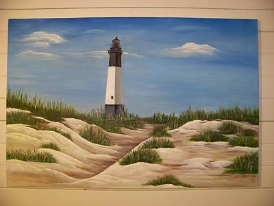 Tybee Island Lighthouse Art Print by Joan Exley