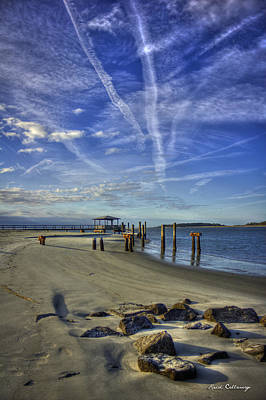 Photograph - Tybee Island South Beach Sunrise Art by Reid Callaway