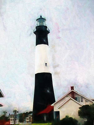 Painting - Tybee Lighthouse - Coastal by Barry Jones