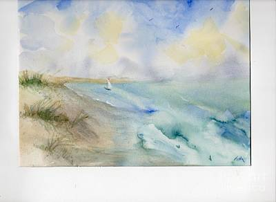 Art Print featuring the painting Tybee Memory by Doris Blessington