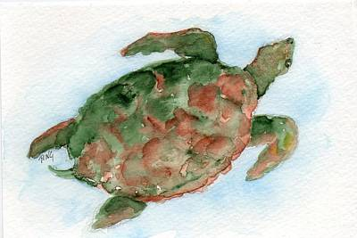 Tybee Turtle Art Print by Doris Blessington