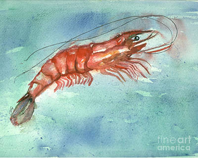 Tybee Wild Shrimp Art Print by Doris Blessington
