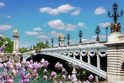 Photograph - Bridge Of Alexandre IIi At Spring by Anastasy Yarmolovich