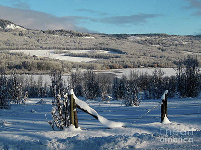 Photograph - Tyee Lake From Hi-road, Winter by Anne Havard