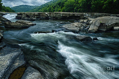 Using The River Photograph - Tygart Valley River by Thomas R Fletcher
