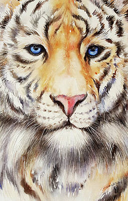 Tiger Eye Painting - Tyger Tyger by Arti Chauhan