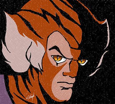 Thundercats Painting - Tygra by Arasaraajah Nathan